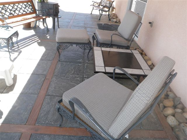 Outdoor chair cushions provide stylish spot to enjoy the view