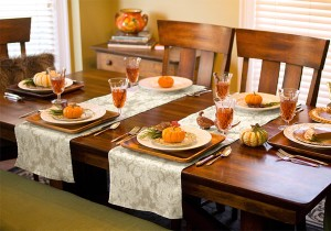 Celebrate in style with a Thanksgiving or Christmas table runner