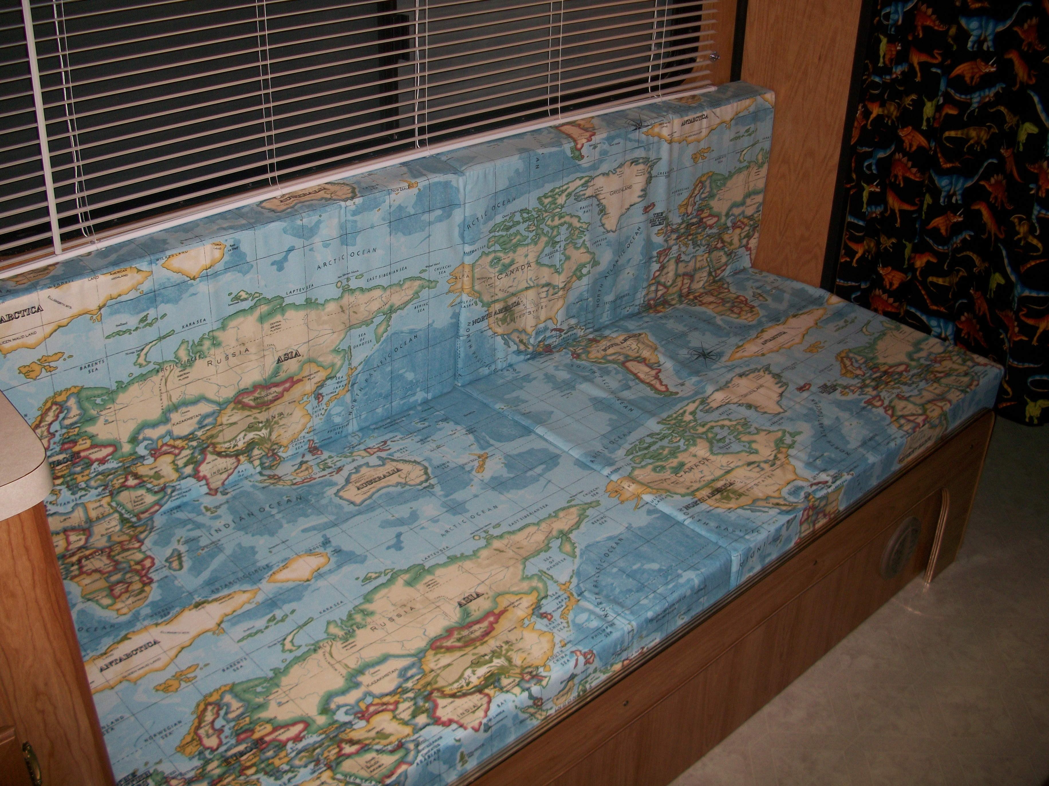 World map fabric adds finishing touch to mobile museum ministry
