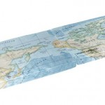 World map fabric - continuation