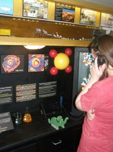 A teenager learns about DNA and biology at the museum.