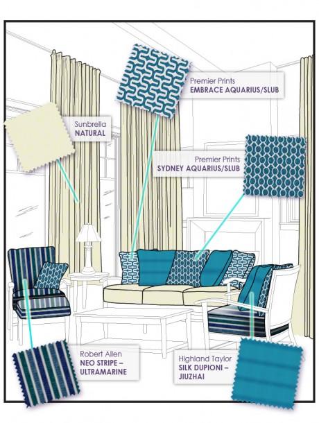 Turquoise Fabric Celebrates Spring